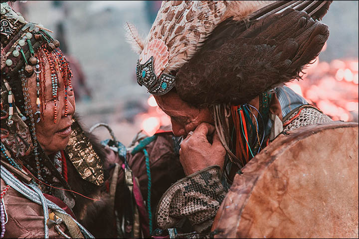 Stunning pictures as shamans from around the world gather in Sayan Mountains