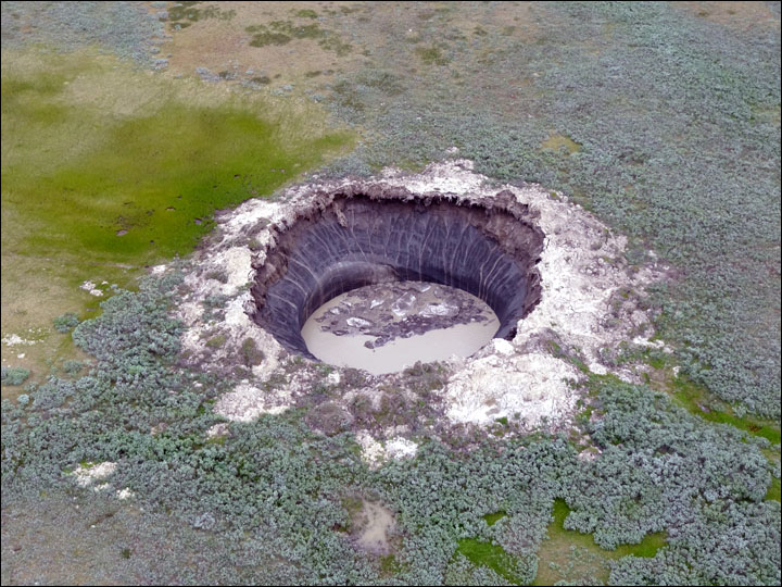 Solved? How scineitsts say mystery craters were formed in northern Siberia