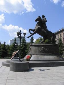 Памятник маршалу Жукову г Екатеринбург