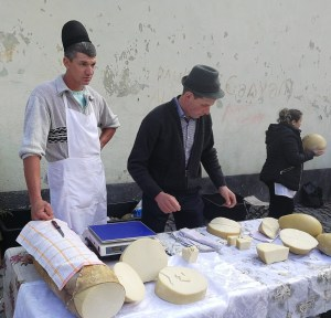 Sheperds selling cheese