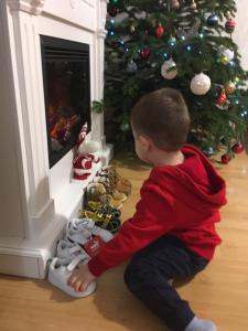 kids preparing for Saint Nicholas