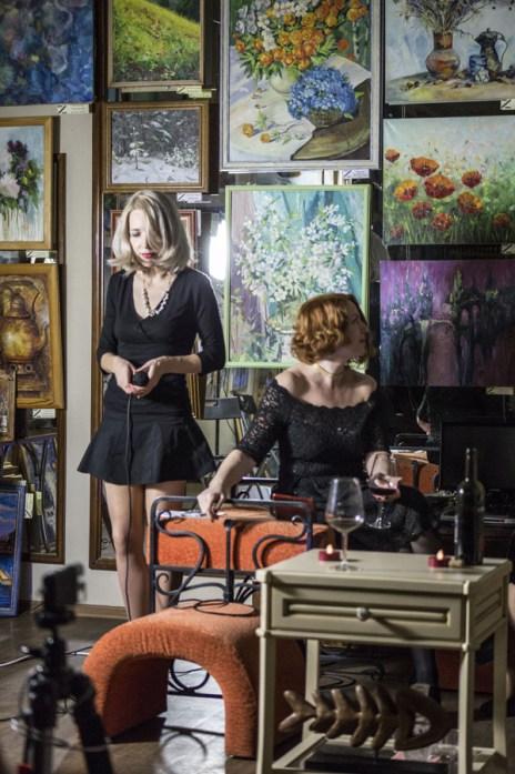 Елена Берсенёва и компания в поэтическом проекте Елены Берсенёвой. Фото Густаво Зырянова