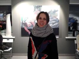 Юля Собачко. Выставка Евгении Шадриной-Шестаковой. Фото Елены Берсенёвой