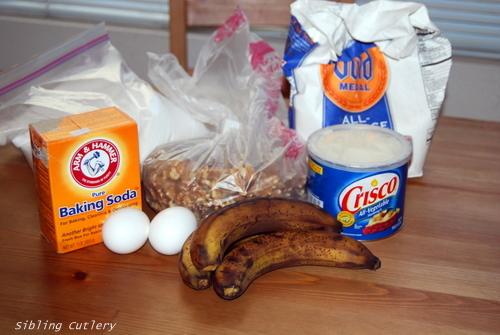 banana bread ingredients