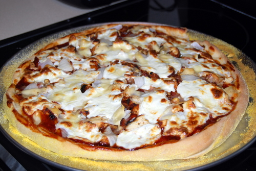 pizza cooked