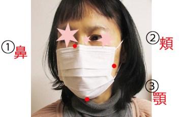 不織布マスクのつけ方