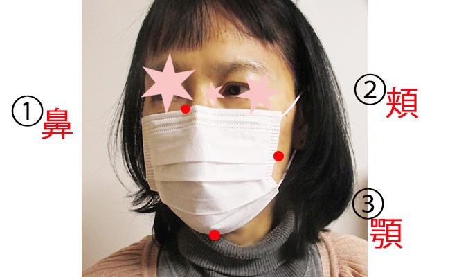 不織布マスク正しいつけ方