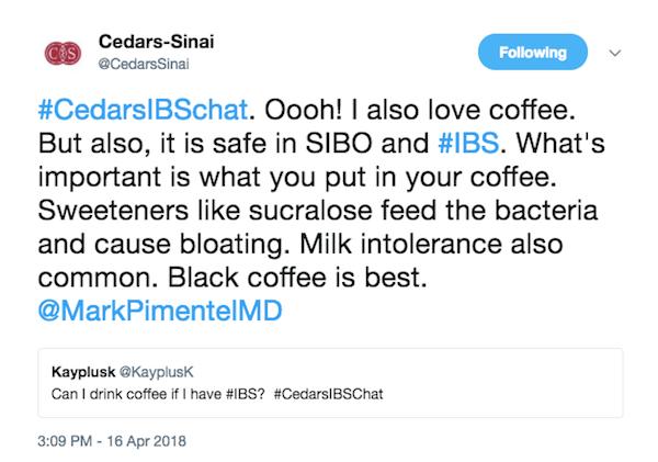 coffee and SIBO