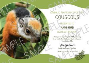wildlife adoption certificate