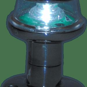 Fanale di via orionis b 12v 360° all-round acciaio led  3w   con asta inox - Cobalt blue