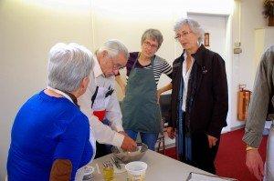 making communin bread together