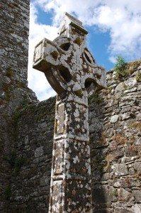 Celtic cross on the Hill of Slane, Ireland