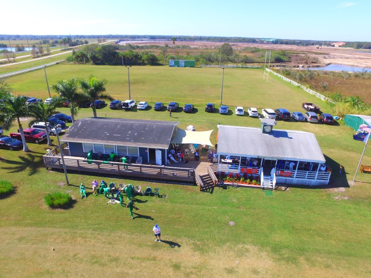 Clubhouse aerial during Six-a-Side 2017