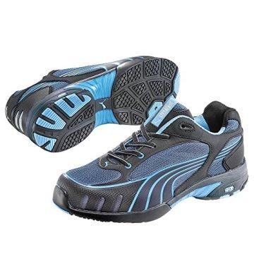 Puma Safety Shoes Fuse Motion Blue Wns Low S1 HRO, Puma 642820-256 Damen Espadrille Halbschuhe, Schwarz (schwarz/blau 256), EU 39 - 1