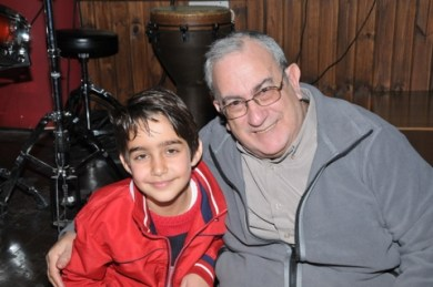 Steve Amsel with his adopted Palestinian grandson