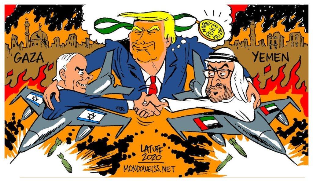 MondoUAE-Israel-Deal-Trump-Nobel-Peace-Prize-Mondoweiss-Latuff-1024×596