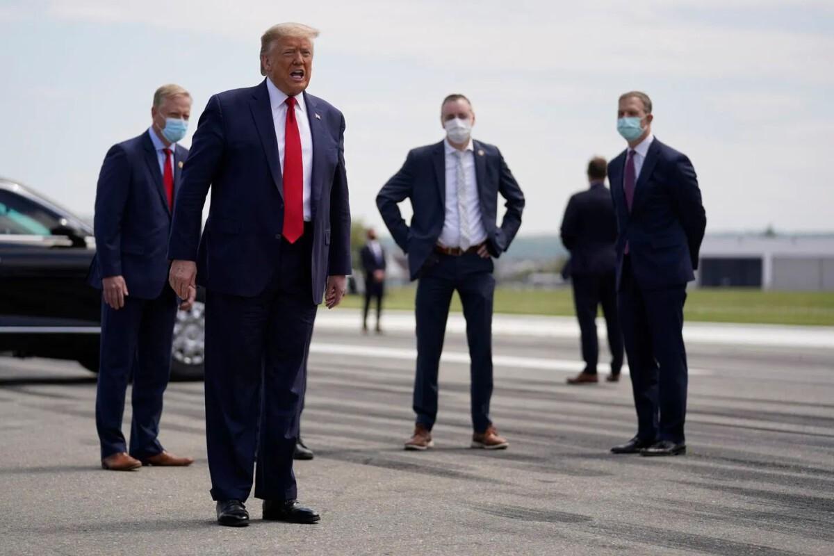 Trump ohne Maske
