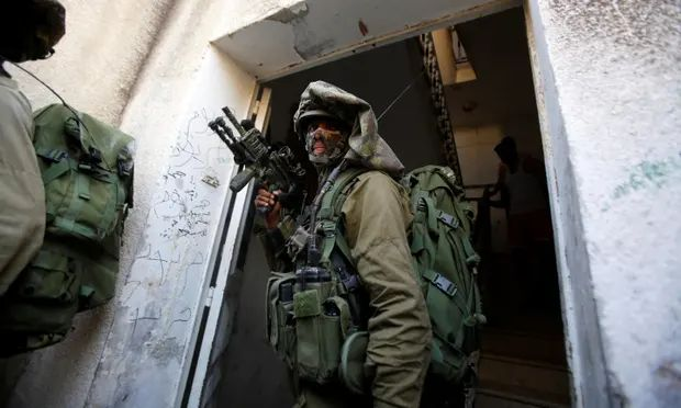 Israeli Soldiers search