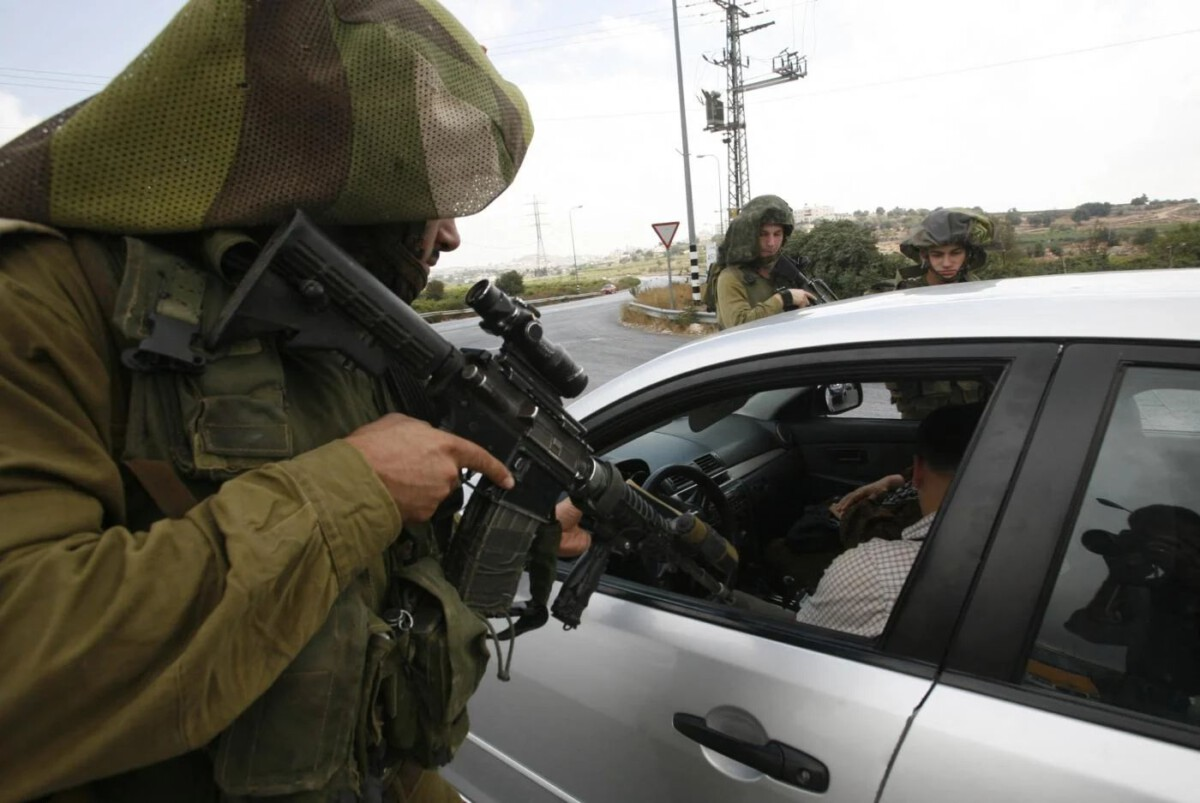 West Bank flying checkpoint 2010 AFP
