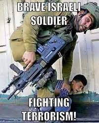 Brave israeli soldier