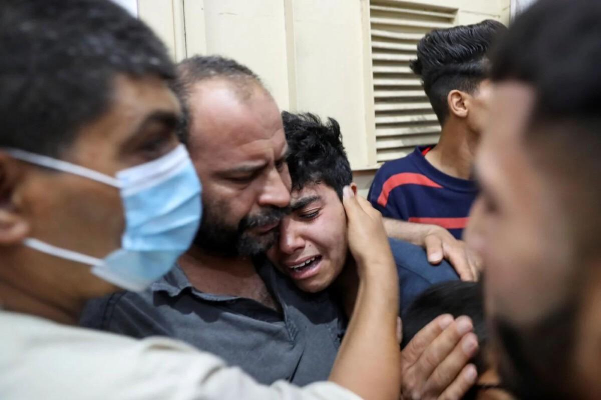 Gaza air strike relative reuters 2021