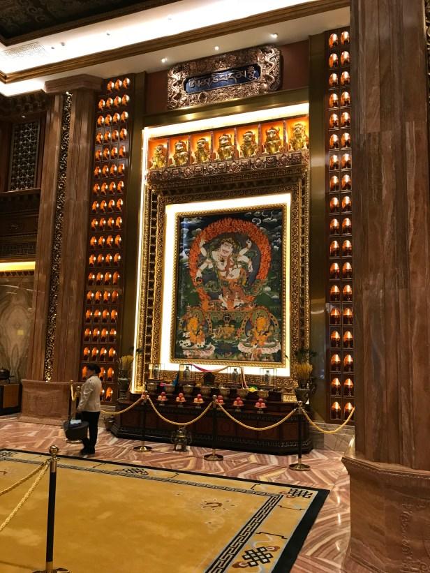Tibetan-style hotel interior,