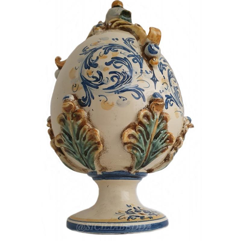 Uovo pasquale in ceramica di caltagirone. Uovo Di Pasqua In Ceramica Di Caltagirone Realizzato A Mano