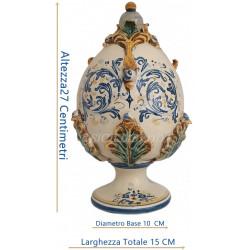"""È l'opera """"*ovum pine nut""""* ideata e realizzata dallo stilista siciliano *diego cortez. Uovo Di Pasqua In Ceramica Di Caltagirone Realizzato A Mano"""