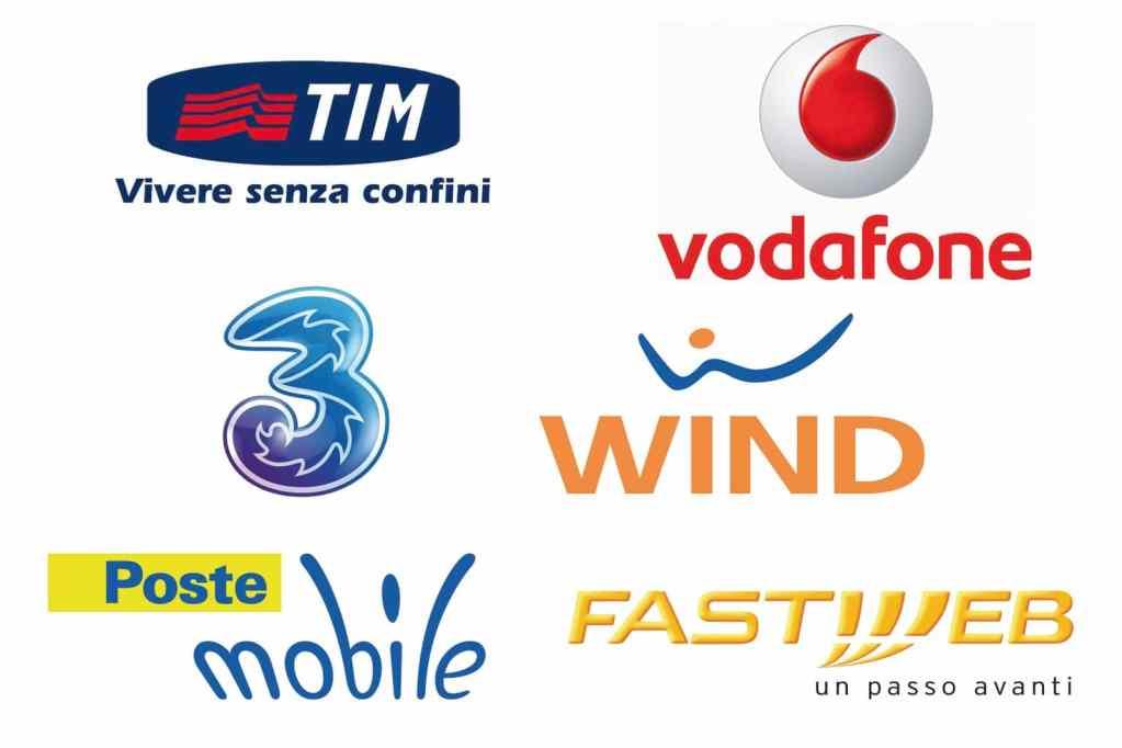 Vodafon, TIM, Wind.