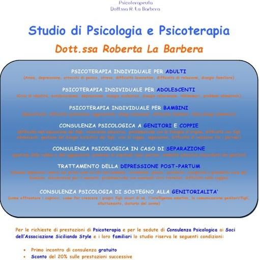 Studio di psicologia e psicoterapia Dott. La Barber