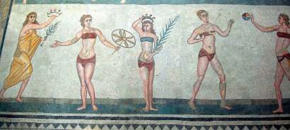 "The ""bikini girls"" of the Roman Villa at Piazza Armerina"