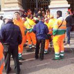Una delle tante proteste dei lavoratori di MessinAmbiente