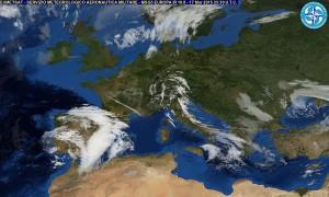 Immagine dal Servizio Meteorologico dell'Aeronautica Militare