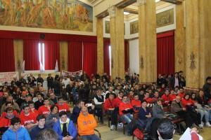 L'assemblea pubblica a Palazzo Zanca (Foto Paolo Furrer)