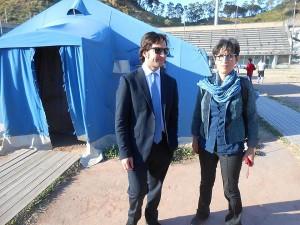 Fabrizio Ferrandelli e Antonella Monastra in visita al PalaNebiolo a Messina
