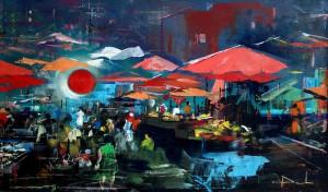 Luce al mercato, opera di Dimitri Salonia