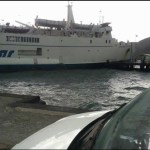 Nave Siremar incagliata a Vulcano 9-9-2015