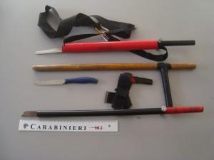 armi_sequestrate carabinieri