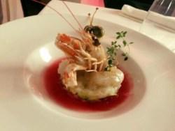 Il piatto Vucciria dello chef Natale Giunta al Castello a mare