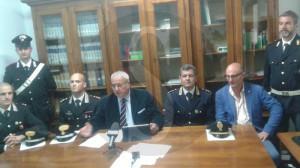 Arresti estorsione MIlazzo conferenza stampa 28-10-2015