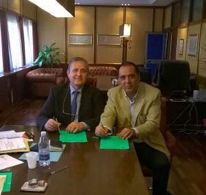 Il presidente Faraci e il commissario Calanna