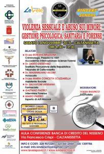 Locandina Convegno Violenza sessuale e abuso sui minori