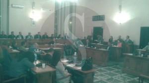 Una seduta del Consiglio comunale di Barcellona