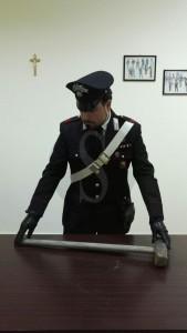 Mazza sequestrata , carabinieri