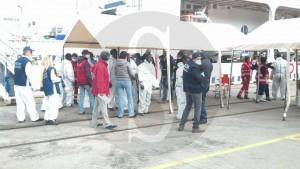 Sbarco migranti, profughi Messina 1-2-2016 a