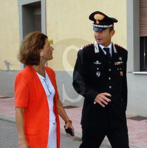 Il prefetto Ferrandino con il comandante Mannucci Benincasa