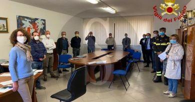 Messina, dispositivi di protezione coronavirus: Vigili del fuoco all'Ispettorato del Lavoro