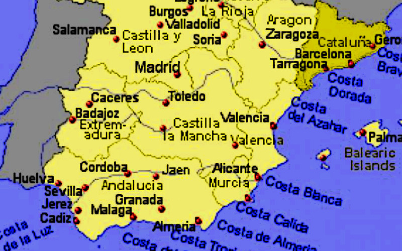 Cartina Spagna Catalogna.Spagna E Catalogna Realta E Menzogne