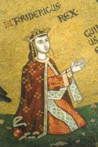 Federico III di Sicilia consorte di Eleonora d'Angiò, una regina di pace. Duomo di Messina