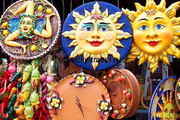 сувениры из сицилии